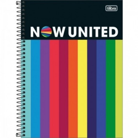 CADERNO UNIVERSITARIO NOW UNITED 160F/10MAT