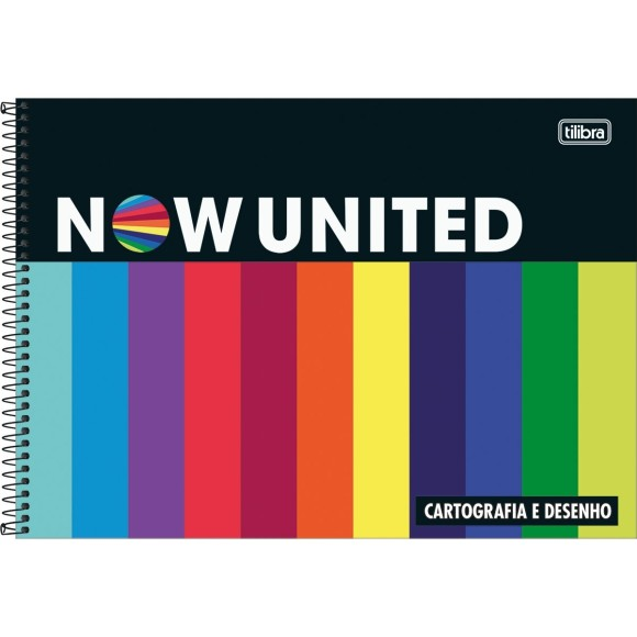 CADERNO CARTOGRAFIA 80FLS NOW UNITED TILIBRA