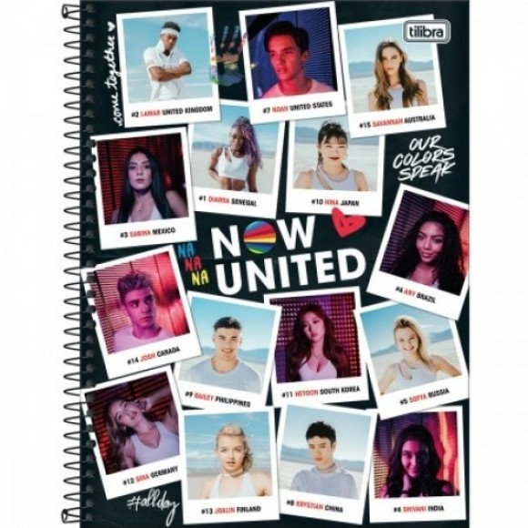 CADERNO UNIVERSITARIO NOW UNITED 80F/1MAT