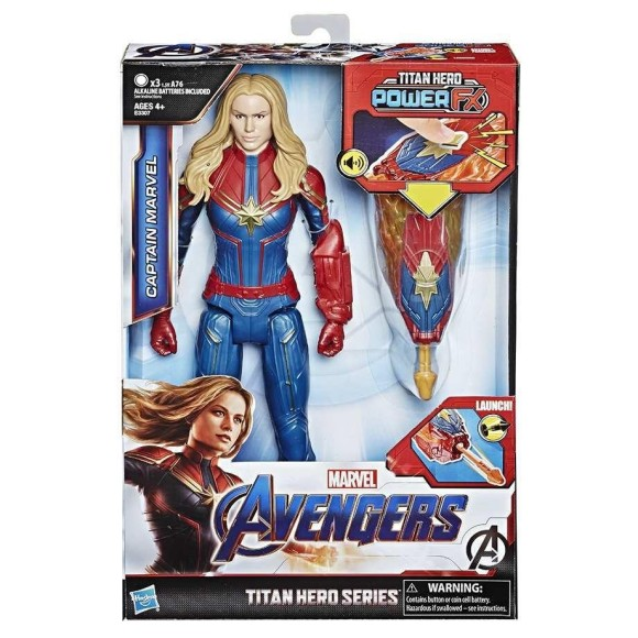 BONECA CAPITÃ MARVEL TITAN HERO SERIES POWER FX 2.0