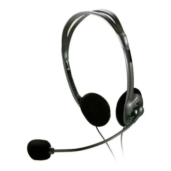 HEADSET MULTIMÍDIA C/ MICROFONE PRETO P2 - PH002 MULTILASER