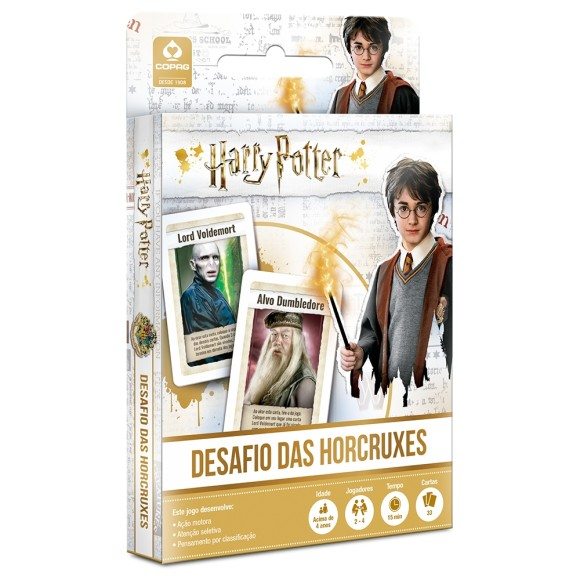 JOGO CARTONADO HARRY POTTER DESAFIO DAS HORCRUXES