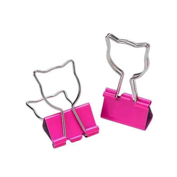 BINDER CLIPS 25MM LOVE GATO 4 UNIDADES MOLIN
