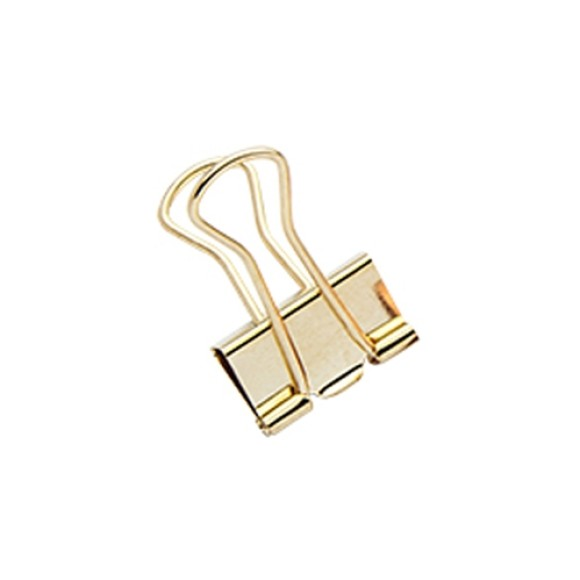 BINDER CLIPS 19MM 12 UNIDADES MOLIN OURO