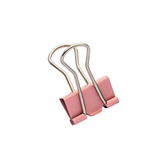 BINDER CLIPS 19MM 12 UNIDADES MOLIN ROSA