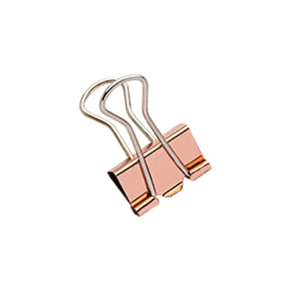 BINDER CLIPS 19MM 12 UNIDADES MOLIN ROSE
