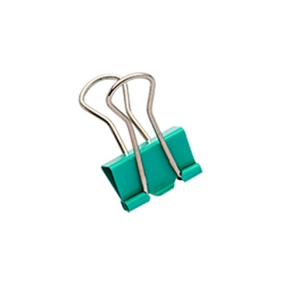 BINDER CLIPS 19MM 12 UNIDADES MOLIN VERDE