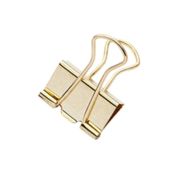 BINDER CLIPS 25MM 7 UNIDADES MOLIN OURO
