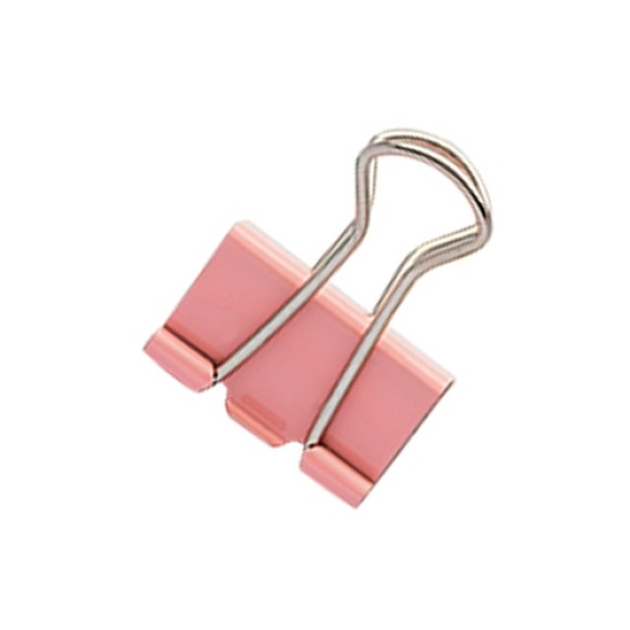 BINDER CLIPS 25MM 7 UNIDADES MOLIN ROSA